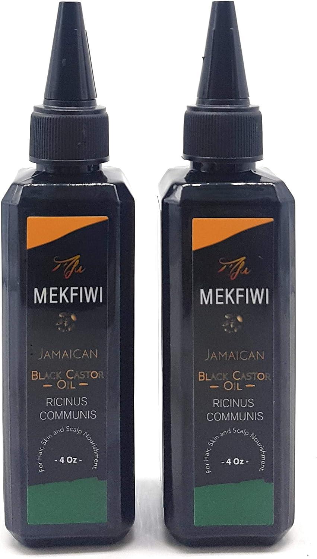 Aceite de ricino negro jamaiquino Mekfiwi para el cabello, la piel ...