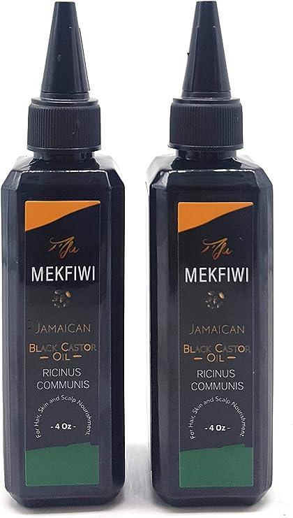 Mekfiwi - Aceite de ricino negro jamaicano. Para el pelo, la piel ...