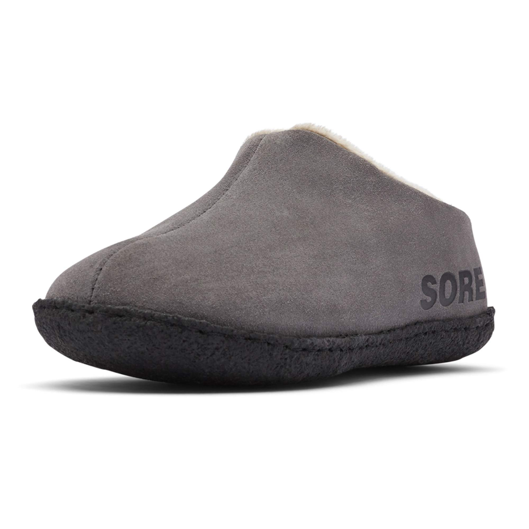 Sorel - Youth Falcon Ridge II Suede Slippers with Fleece Lining for Kids, Buffalo/Delta, 7 M US