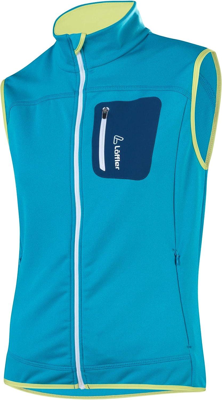 LÖFFLER Stretchfleece Vest Women - Topaz Blue