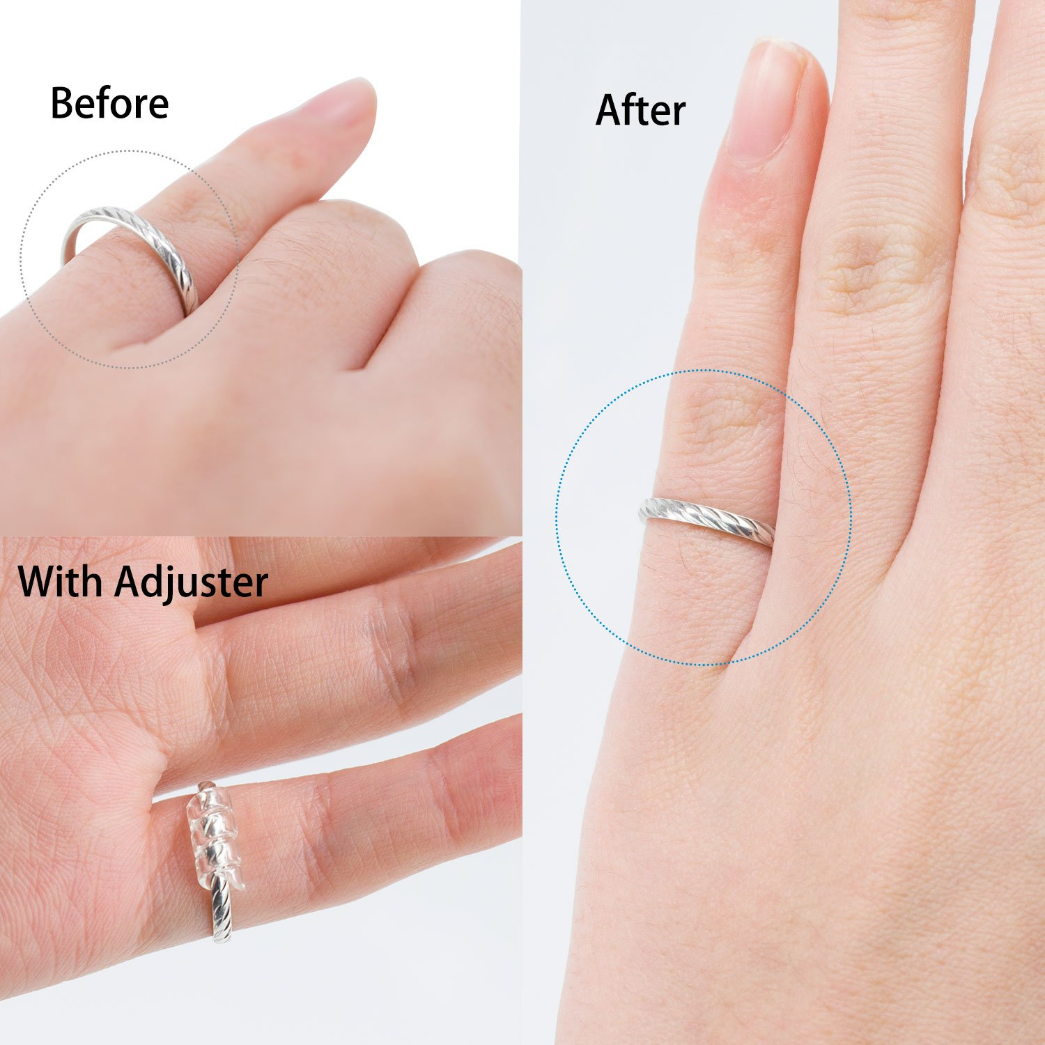 Amazon.com: Medihealer Ring Size Adjuster Ring Guard with Jewelry ...