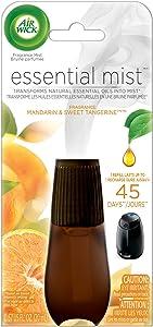 Air Wick Essential Oils Diffuser Mist Refill, Mandarin & Sweet Tangerine, 1ct, Air Freshener