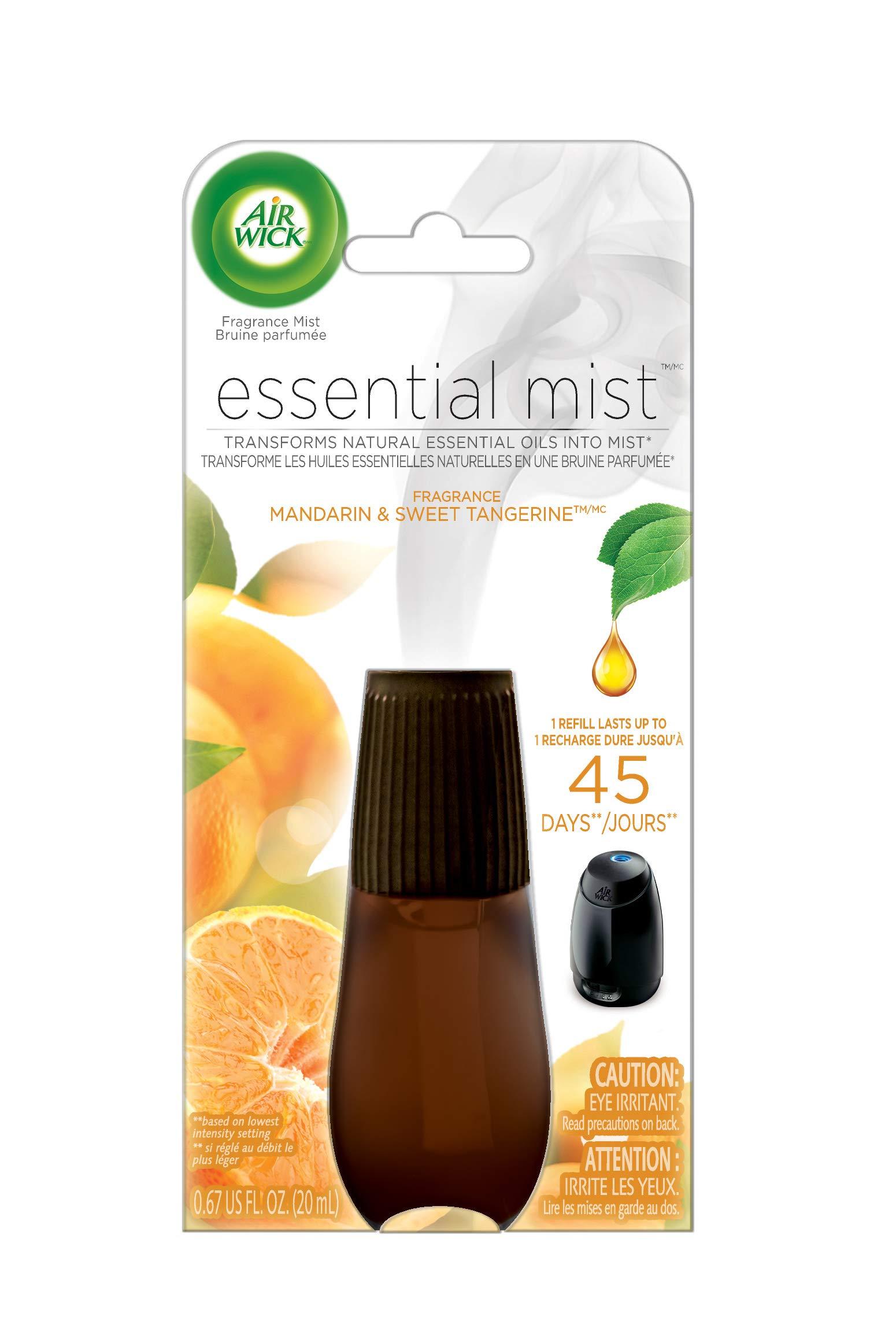 Air Wick Essential Oils Diffuser Mist Refill, Mandarin & Sweet Orange, 1ct, Air Freshener