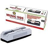 Music 555 Magnetic Duster for Erasing Marker Or Chalk + 3 White Board Marker Pens Blue, Black & Red