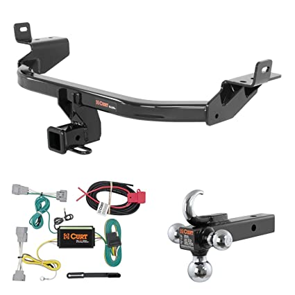 Peachy Amazon Com Curt Trailer Hitch Wiring W Tow Hook Ball Mount For Wiring 101 Relewellnesstrialsorg