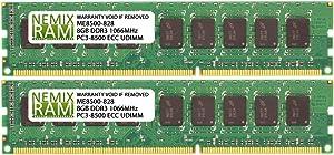 Nemix Ram 16GB Memory for Apple Xserve 3,1 8-Core Early 2009 16GB 2x8GB DDR3 ECC 1066Mhz PC3 8500 240-Pin UDIMM Ram Memory Module