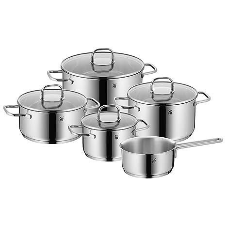 WMF Inspiration Batería de Cocina, Acero Inoxidable Pulido, 5 Piezas