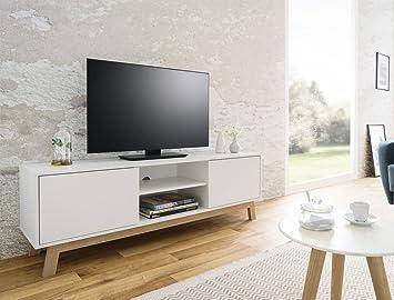 expendio Lowboard Anzo 8 weiß 150x50x40 cm TV-Board TV ...