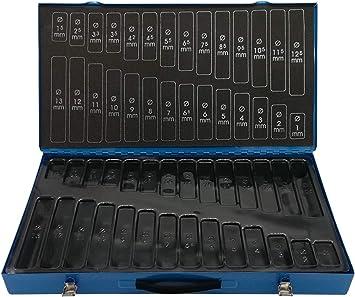 Caja vacía para juego de brocas de 1 a 13 mm – Maletín de acero vacío para caja surtida de brocas en espiral: Amazon.es: Bricolaje y herramientas