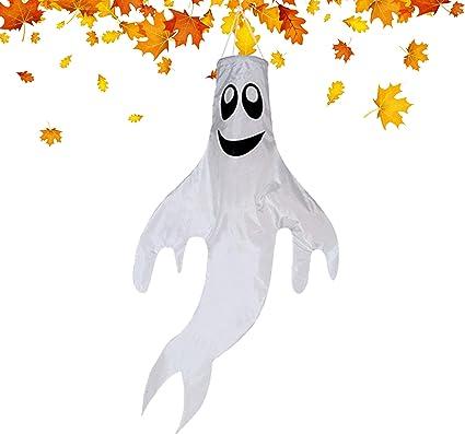 Bandera De Halloween Para Colgar Al Aire Libre Ideal Para Halloween Decoración De Fantasmas Para Patio Delantero Patio Césped Jardín Fiesta Decoración Jardín Y Exteriores