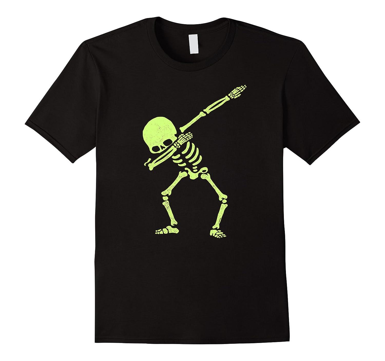 Dabbing Skeleton Shirt Dab Hip Hop Skull Dabbin Glow Effect-Vaci