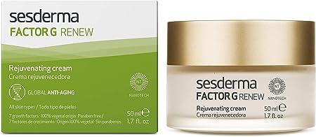 Sesderma FACTOR G RENEW - Crema hidratante rejuvenecedora facial para todo tipo de piel, 50 ml