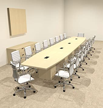 Amazoncom Modern Boat Shaped Cube Leg Feet Conference Table - 20 foot conference table