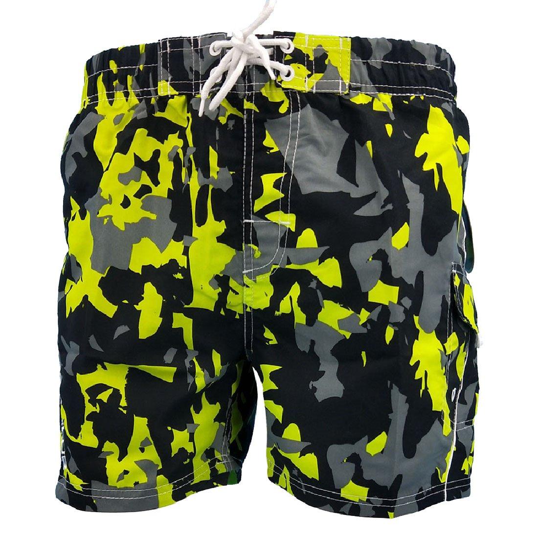 Tingwin Men Sports Casual Summer Multicamo Trunks Brief Swimsuit Swimwear