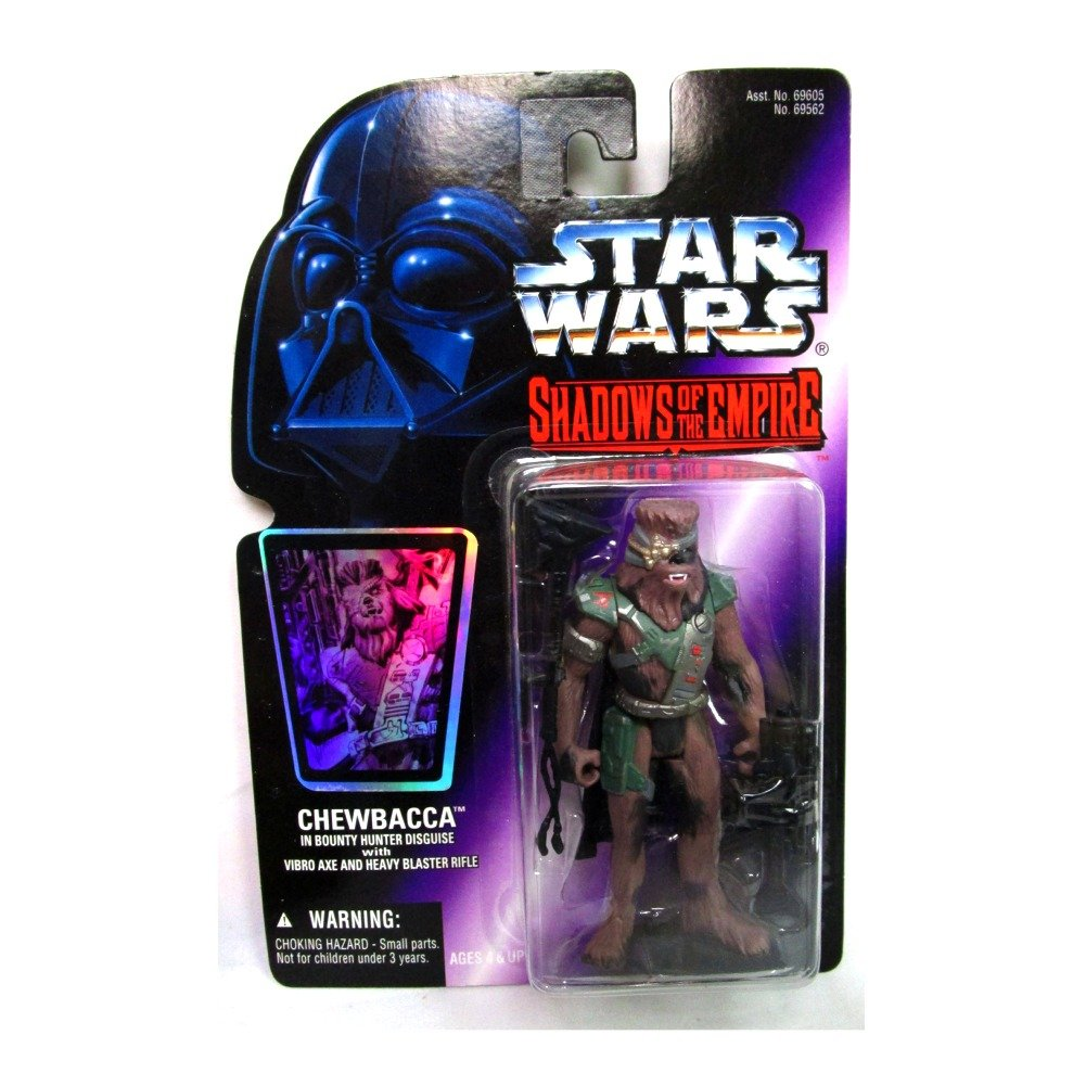 Star Wars Shadows of the Empire Chewbacca in Bounty Hunter Disguise Action Figure Hasbro 69562