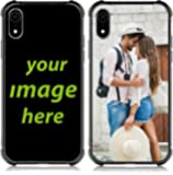 Custom Case for iPhone XR 6.1 INCH Customized Phone Case Anti_Scratch Shock_Resistant Soft TPU and Glass Cover…