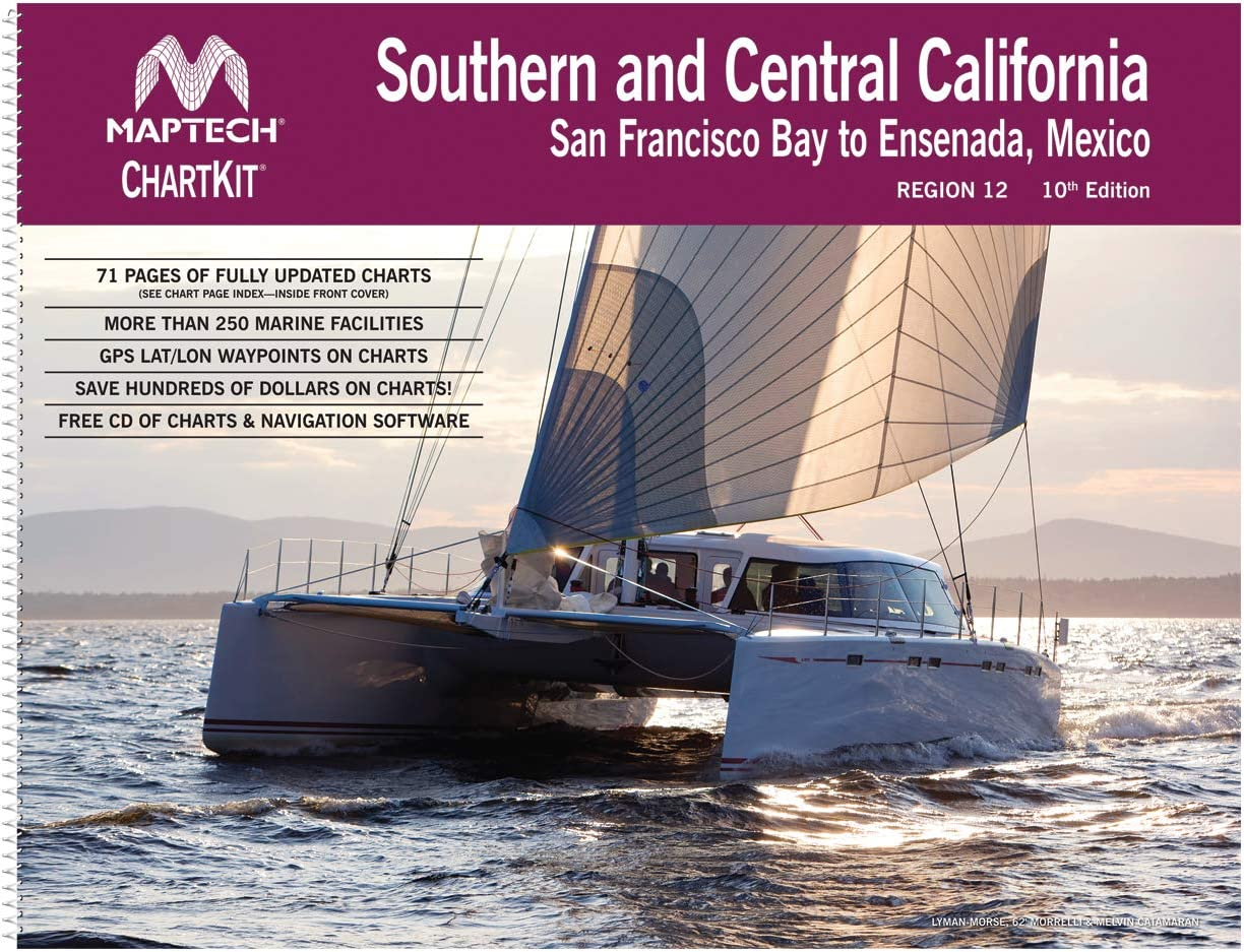 MAPTECH ChartKit Region 12: Southern and Central California San Francisco Bay to Ensenada, 10th Edition