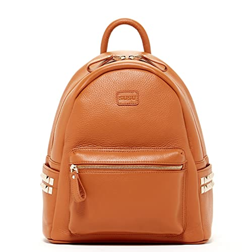 wholesale price cheap autumn shoes SUSU Brown Pebble Leather Backpack Bags For Women Cute Designer Handbags  With Studs and Front Pocket Travel Fashion Backpacks Purses With Side  Pockets ...