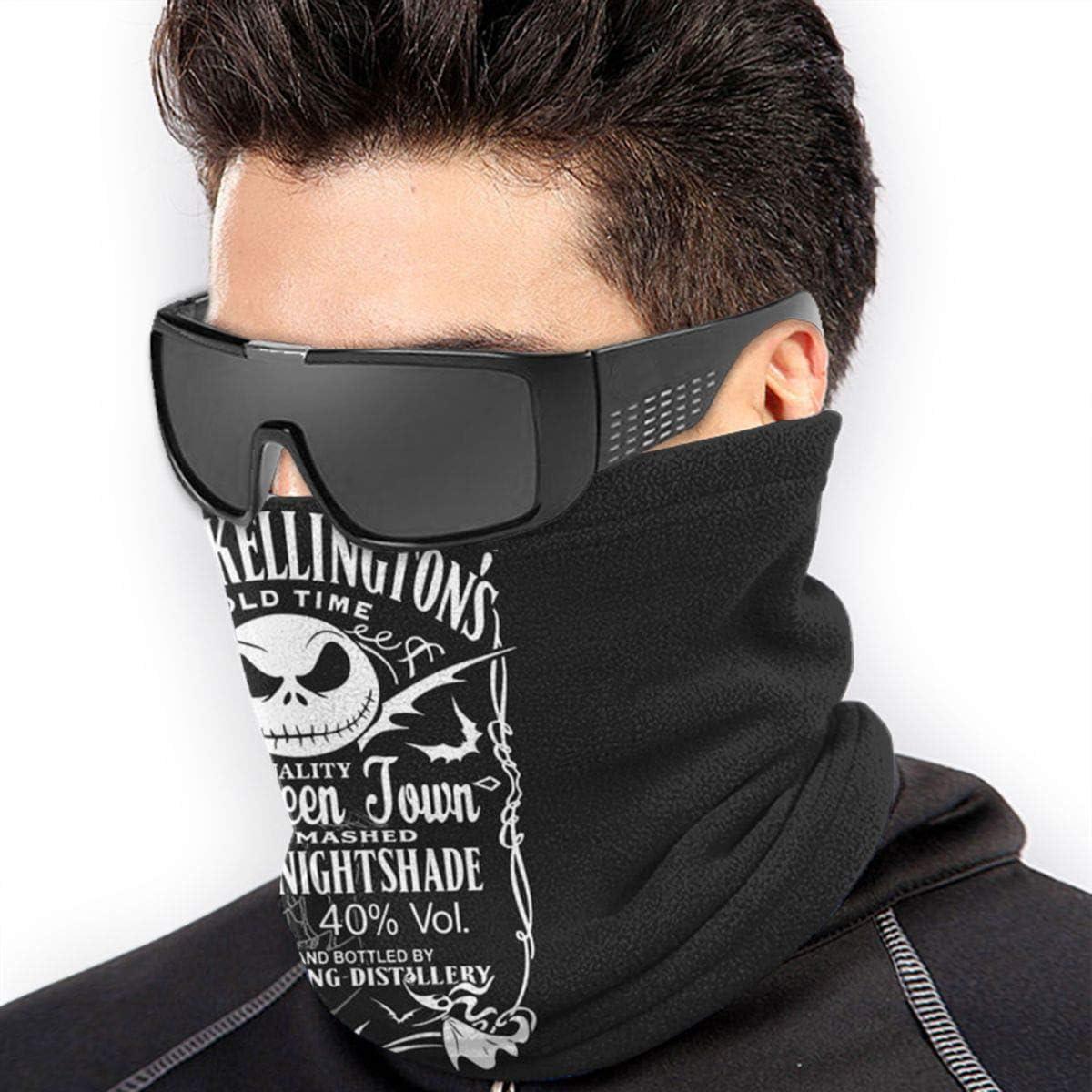 Jack Skellington Daniels Dust Wind UV Fleece Neck Warmer Gaiter Seamless Face Mask Outdoor Cold Weather Winter Neck Gaiter Windproof Breathable Bandana Balaclavas For Men Women