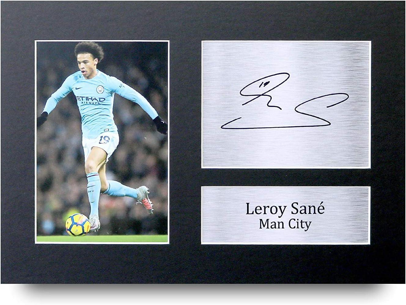 HWC Trading Kevin De Bruyne A4 Encadr/é Sign/é Image Autographe Imprim/é Impression Photo Cadeau DAffichage pour Manchester City Fans De Football