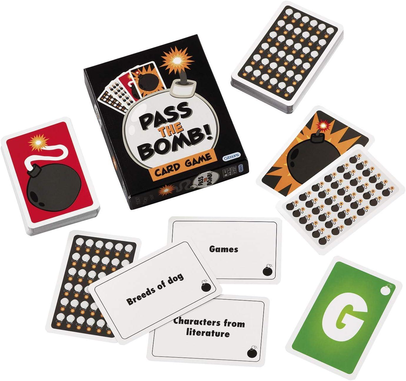 Gibsons - Juego de Cartas (versión en inglés): Gibsons Pass the Bomb Card Game: Amazon.es: Juguetes y juegos