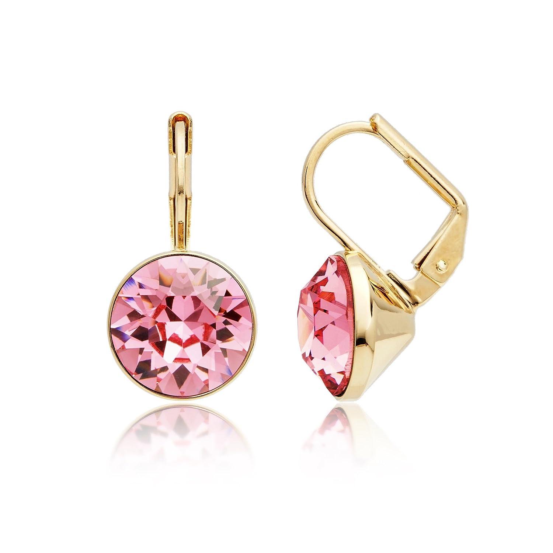 afce4df5d90cf MYJS Bella Mini Light Rose Swarovski Crystal Drop Earrings 16k Gold ...