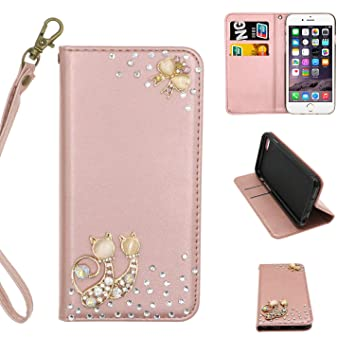 etui coque iphone 8 chat strass