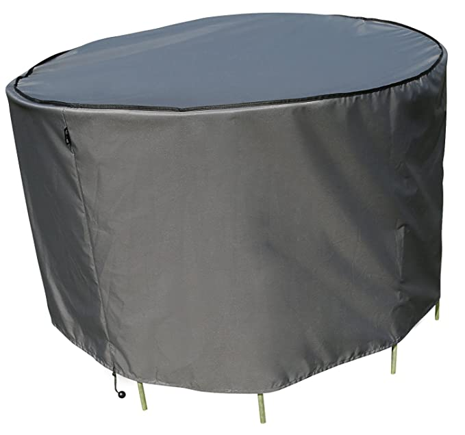 sorara – Housse de protection pour table ronde | Gris | Ø ...