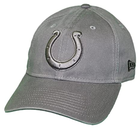 02007afa3a0 Image Unavailable. Image not available for. Color  New Era Indianapolis  Colts NFL 9Twenty Classic Tonal Adjustable Graphite Hat