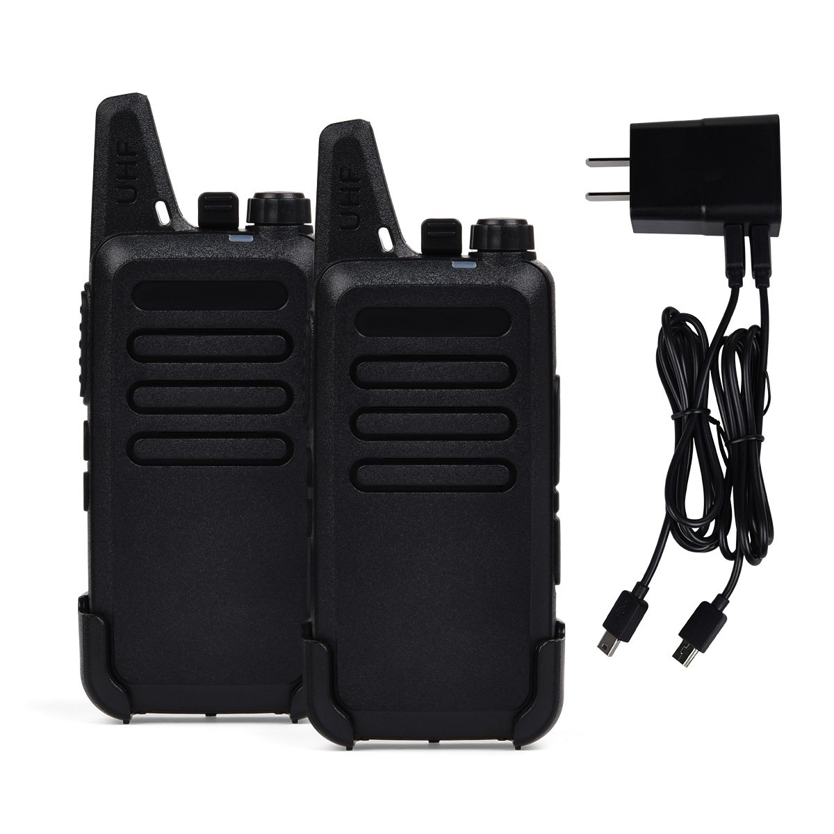 Rechargeable Kids Walkie Talkies Professional Interphone for Hunting for Police BF-888S two way radios Long range Rechargeable with Charger earphone (without Earpiece) walkie talkie with charger