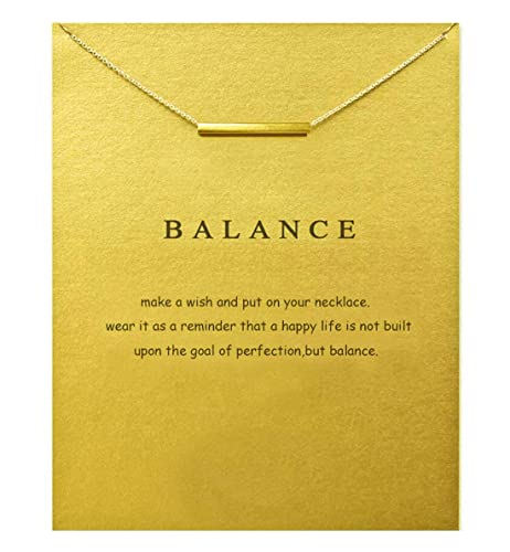 Hundred River Birthday Gift Necklace Bar With Message Card