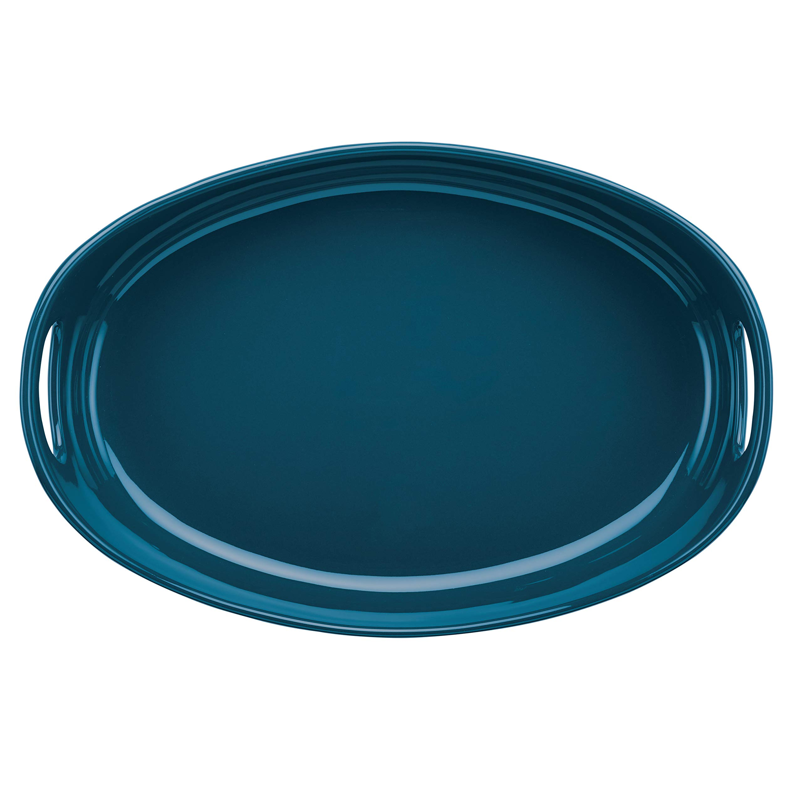 Rachael Ray Ceramics Bubble and Brown Oval Baker Set, 2-Piece, Marine Blue by Rachael Ray (Image #2)