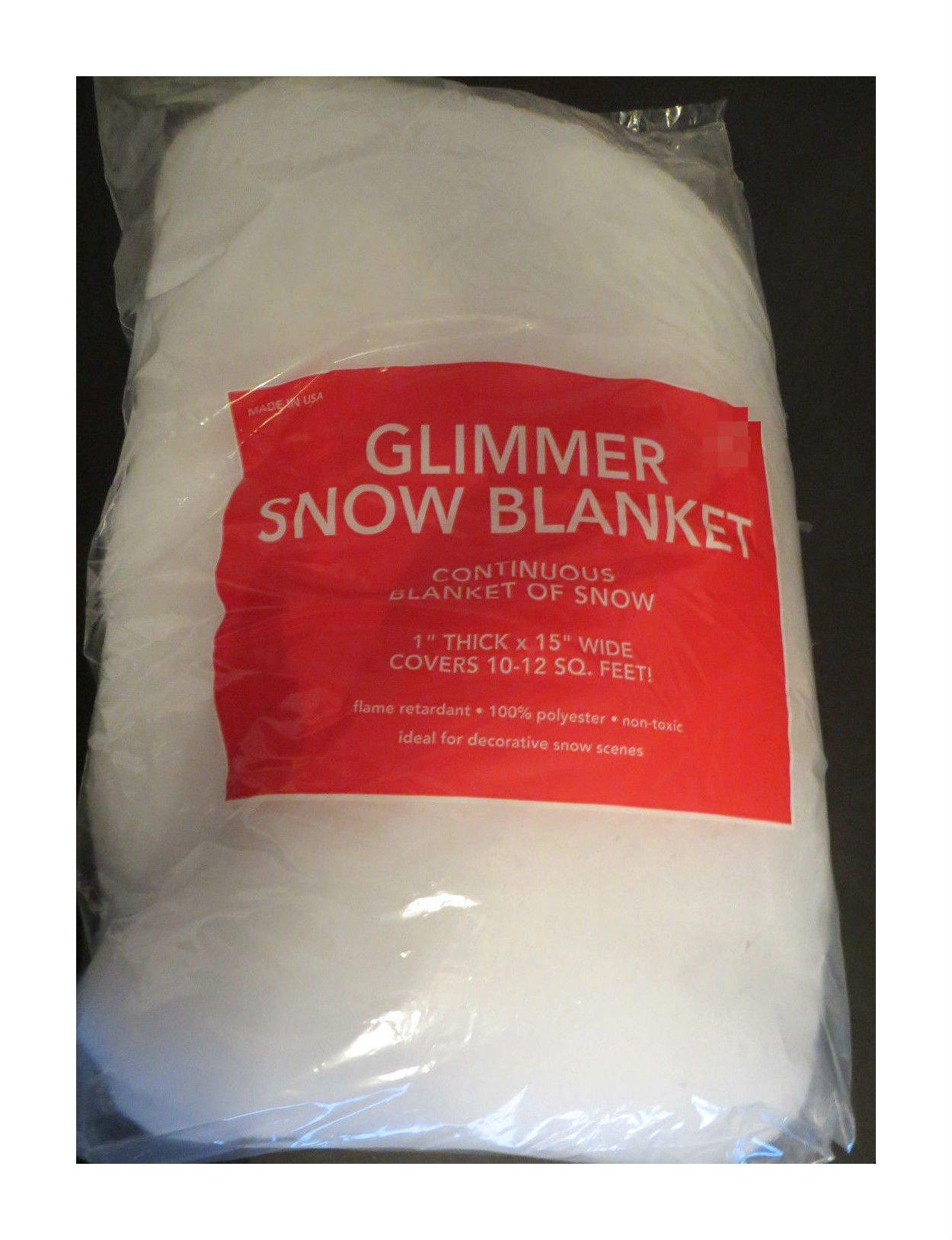 Glimmer white Snow Blanket Glitter flame retardent christmas decoration village