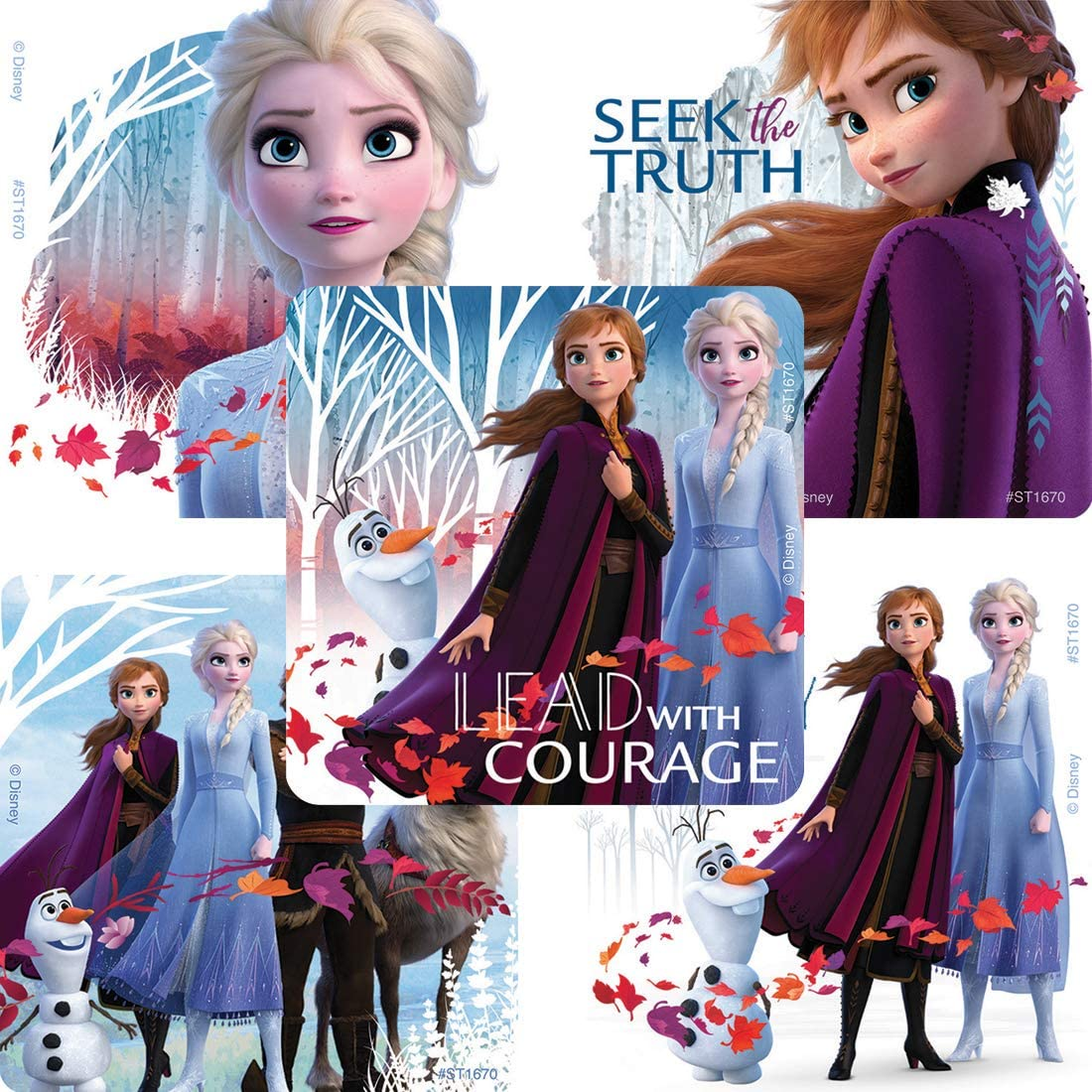 SmileMakers Frozen II Stickers - Prizes & Giveaways - 100 per Pack