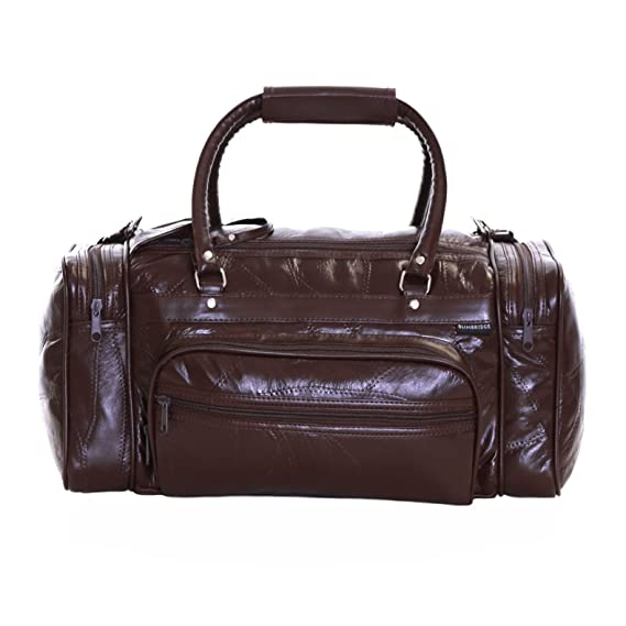 Slimbridge Madrid Sac en cuir Voyage, Marron