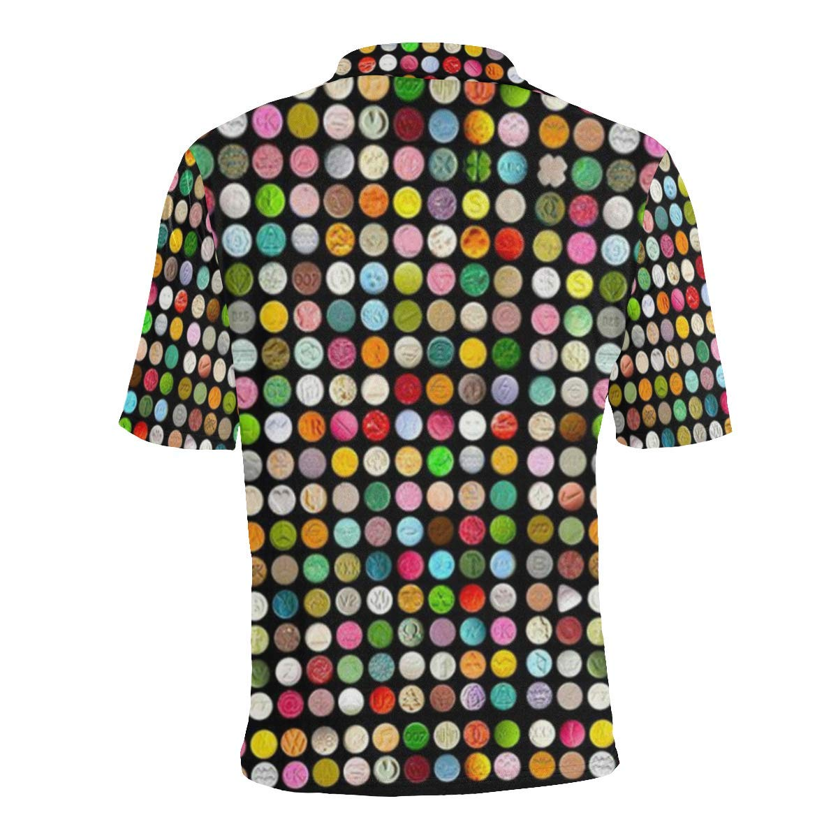 COL DOM Short Sleeve Ecstasy Pills Mens All Over Print Polo Shirt