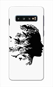 Okteq thin slim fit case forSamsung Galaxy S10 - face bireds by Okteq