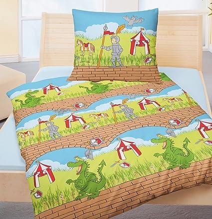 lema A tientas Hermana  Bierbaum Dino 2305 - Juego de sábanas infantiles (80 x 80 cm y 135 x 200  cm), diseño de dinosaurios: Amazon.es: Hogar