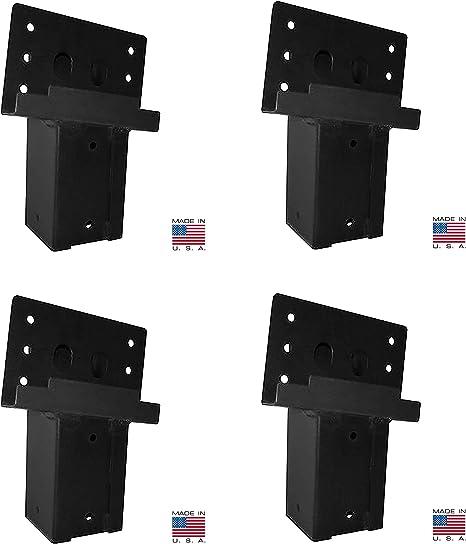 4-Pack Dual Angle Elevator Brackets 4x4 Deer Stand Hunting Blind Tower Platform