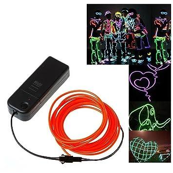 TOOGOO(R) 3M flexible Neon Neonlicht Beleuchtung EL Wire EL Kabel ...