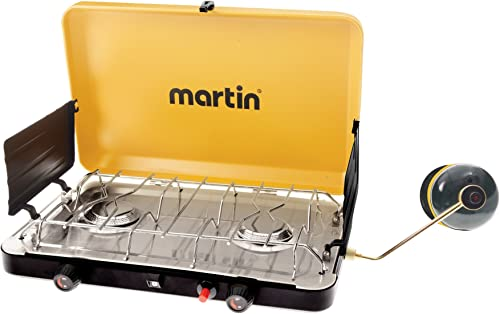 MARTIN 2 Burner Propane Stove Grill Gas 20 000 Btu Outdoor Trip Accessory Portable Advanced Features Propane Burner Csa Certified and Steady Performance