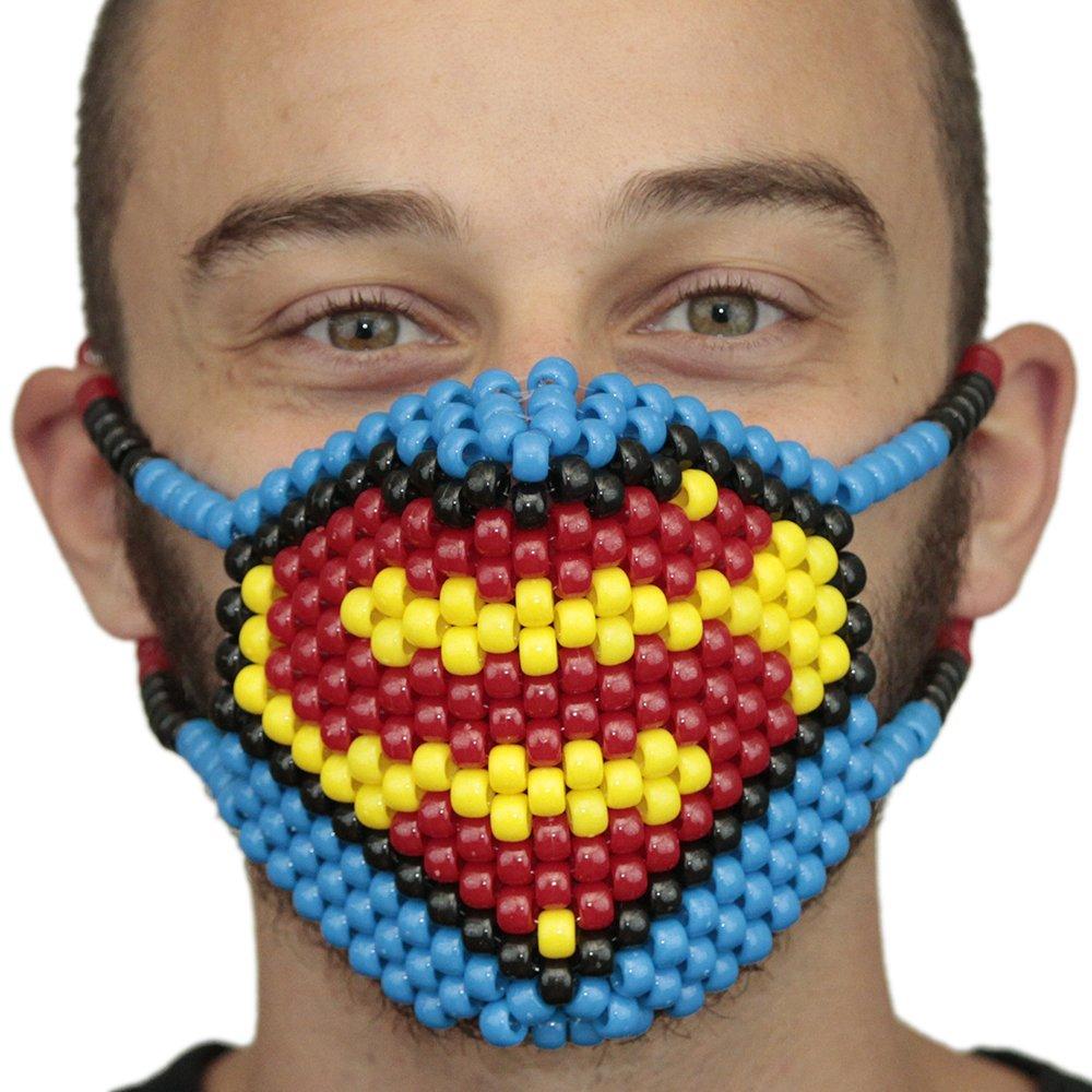 Kandi Gear Superman Symbol Surgical Kandi Mask