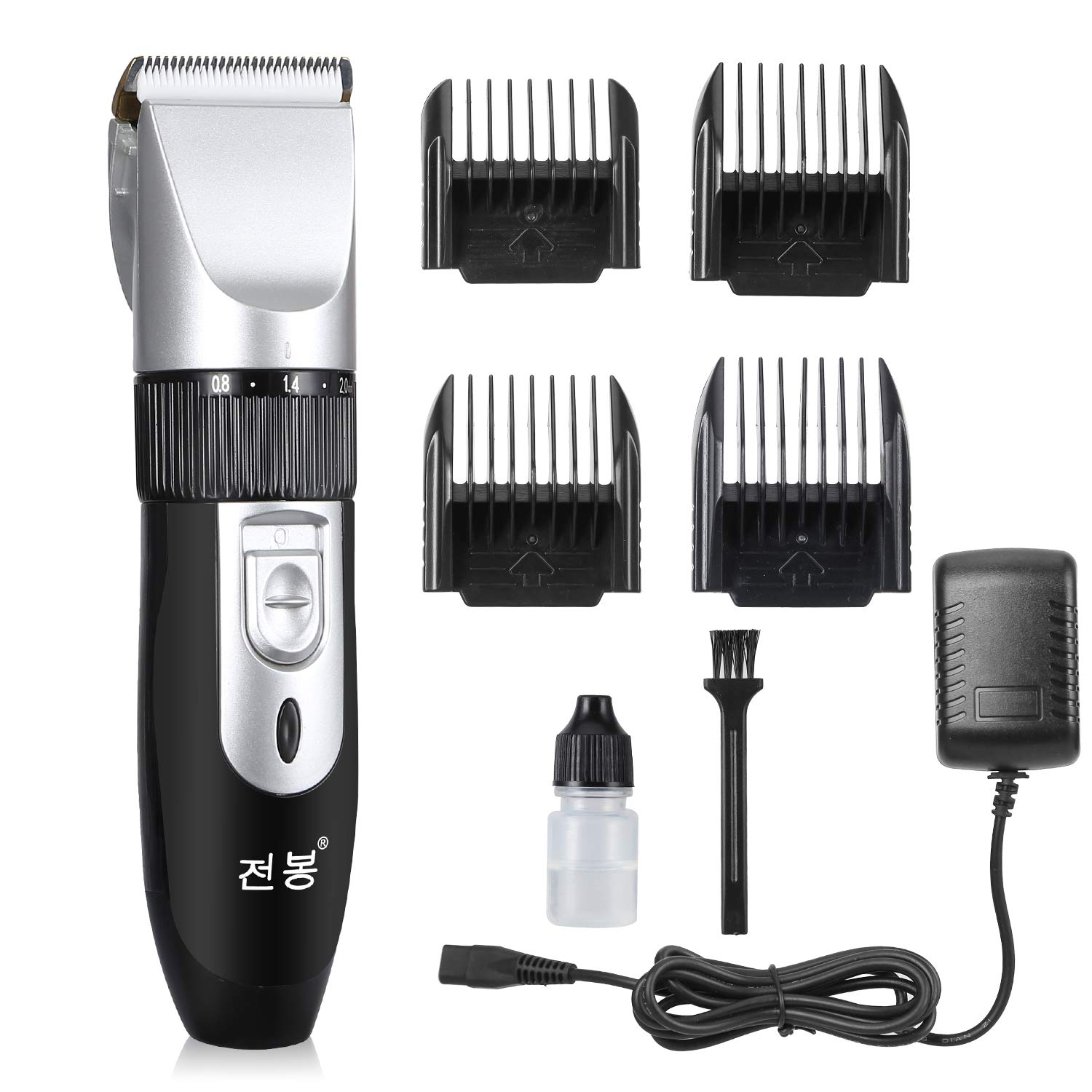 Eterbiz Cordless Hair Clippers, 8 in 1 Titanium Ceramic Blade Hair Cutting Kit Machine Rechargeable, Professional Beard Trimmer for men, Low Noise Hair Trimmer with 4 Limited Comb