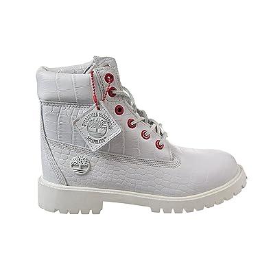 Timberland Juniors 6 In Premium WP Boot, 5 M UK, White