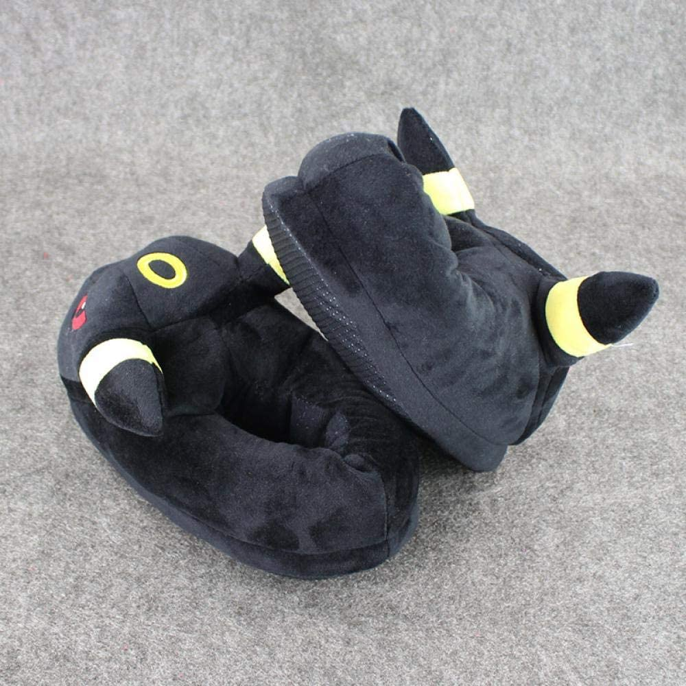 Anime Umbreon Slipper Stuffed 27cm Umbreon Slipper Indoor for Adults Home House Soft Plush Shoes