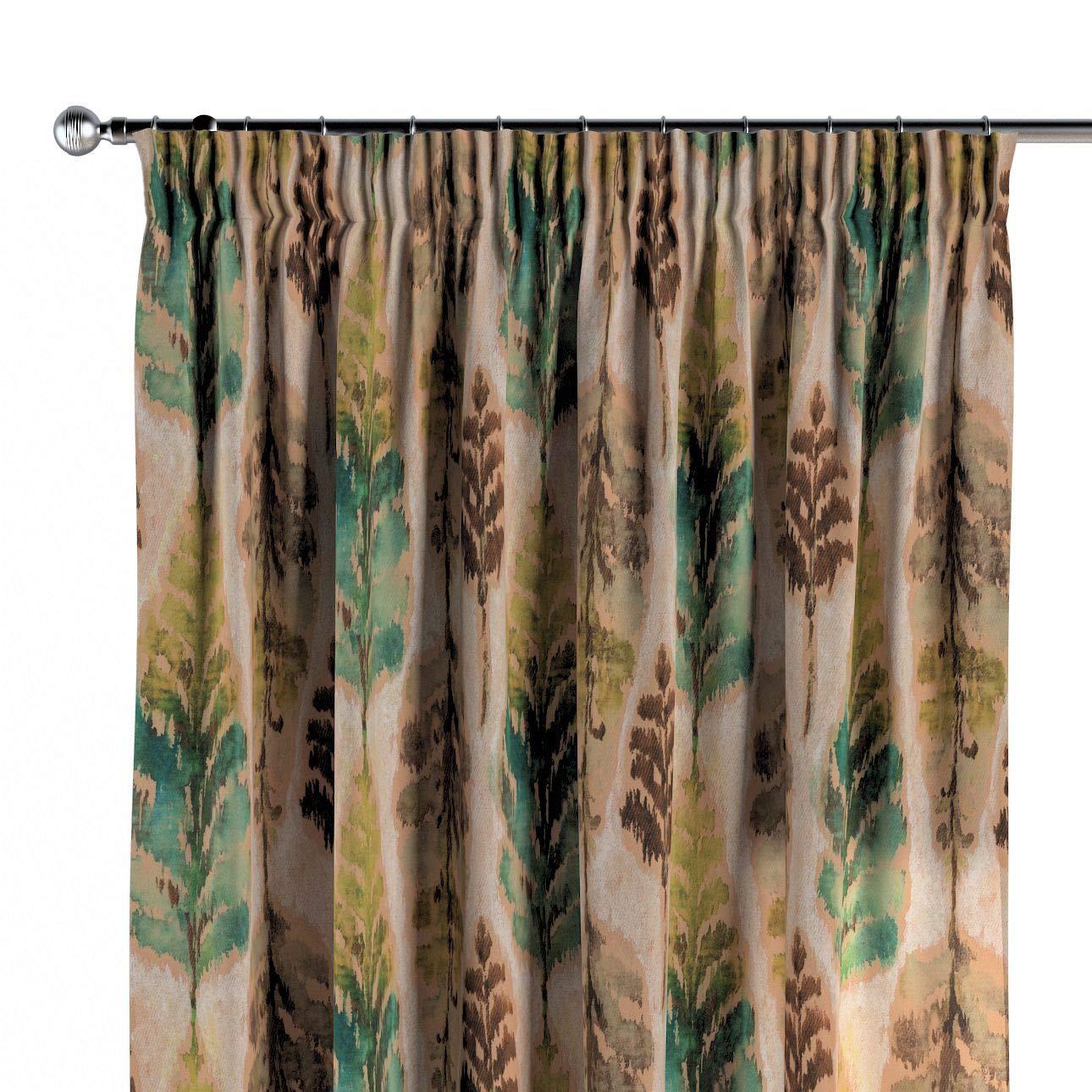 Dekoria Vorhang mit Kräuselband Dekoschal Blickdicht 1 Stck. 130 × 260 cm grün-braun Maßanfertigung möglich