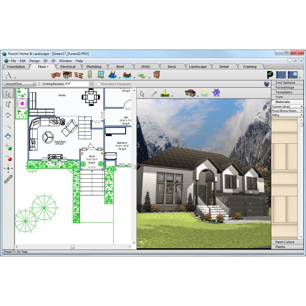 Amazon.com: Punch! Home U0026 Landscape Design 17.5 [Download]: Software