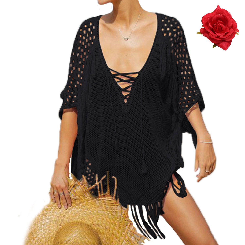 MuRstido Copricostume Costume da Bagno Parei Spiaggia Maglieria Donna Tunica Bikini Cover up Beachwear Mare