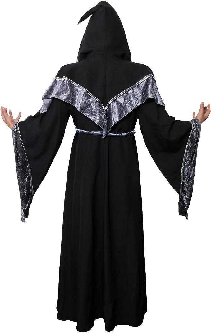 Adulto Mantello con collare rosso Vampiro Halloween Fancy Dress Costume Wizard