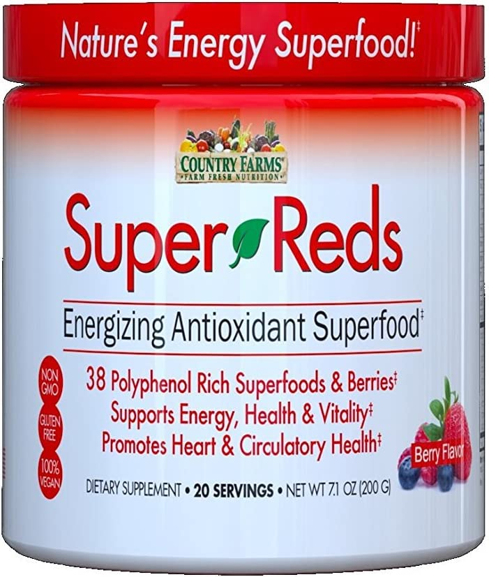 Country Farms Super Reds, Berry Flavor, 7.1oz. Per Jar 2 Pack